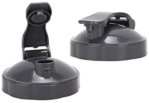 NutriBullet Flip Top To-go Lid – Premium NutriBullet Accessories & Replacement Parts (Pack of 2, Grey)