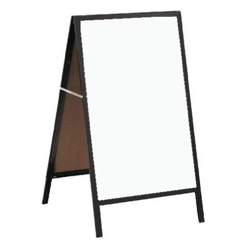 A Frame Sidewalk Board with White Markerboard Size & Frame: 24