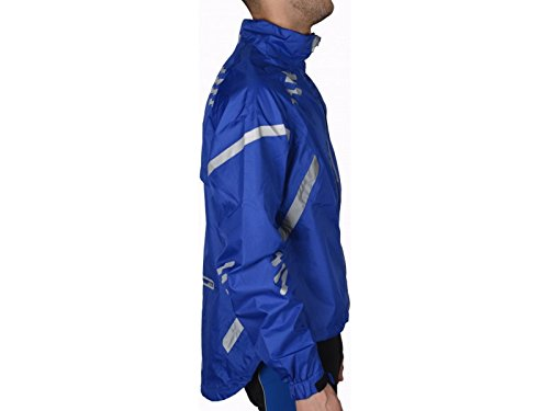 Piu Miglia Mens Reflective Commuter Cycling Jacket Blue For Sale Cycling