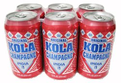 India Kola Champagne - Puerto Rico's Original Kola - 12 fl oz (Six Pack) by India
