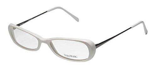 Vera Wang V48 Womens/Ladies Designer Full-rim Eyeglasses/Spectacles (50-16-130, White / - Optical Ladies Frames