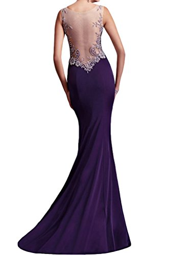 abiti damigella graceful spalline posteriore party Purple d' sera abito senza sheer da Sunvary onore WXc8SdqX