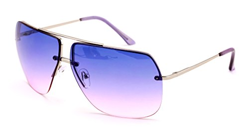VW Eyewear - Limited edition colorful lens rimless metal aviator sunglasses - Sunglasses Men Gradient