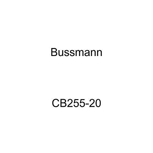 (Bussmann CB255-20 Weatherproof Marine Rated High Amp Type III Panel Mount Circuit Breaker (20 Amp), 1 Pack)