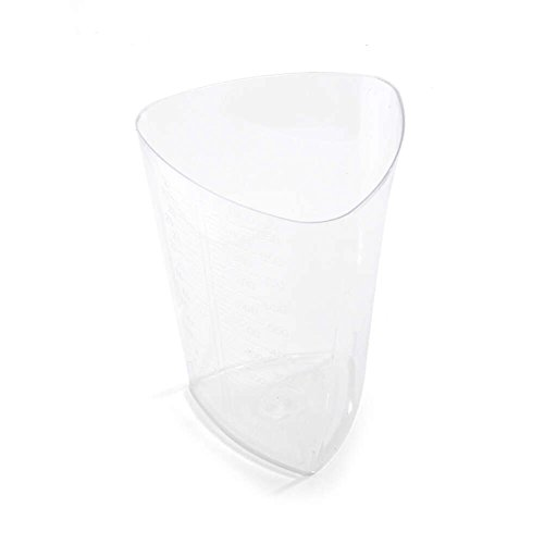 MediChoice Laboratory Container, Polystyrene, 1000 Cubic Centimeter, Clear (Bag of 10)