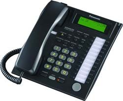 KX-T7735-B Panasonic 24 Button Speakerphone Telephone w/ 3-Line Backlit LCD & Hands-Free Answer (3 Line Backlit Lcd)