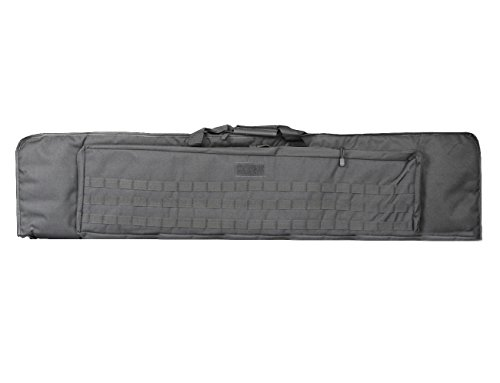 A&N Airsoft Gun Rifle Large Carrying Bag Pack Storage Case 120cm MOLLE w/ Accessory Pouches Webbing Compartments by A&N