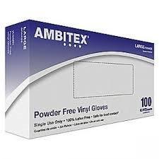 Tradex VMD5201 Ambitex Vinyl Powdered Free Multi-Purpose Gloves, Medium, Clear (Pack of 1000) by Tradex
