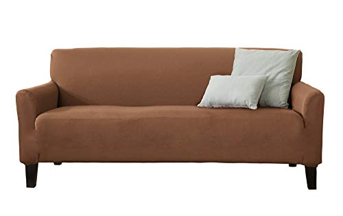 Home Fashion Designs 1-Piece Spandex Slipcover Dawson Collection. (Sofa, Toffee)