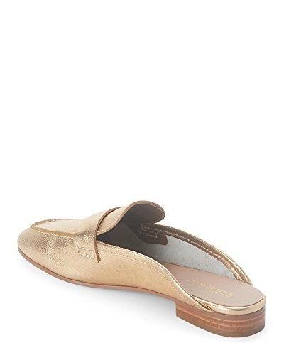 BCBGeneration Womens Sabrina Leather Square Toe Mules, Gold, Size 7.5