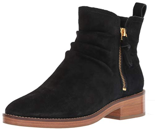 Cole Haan Women's Harrington Grand Slouch Bootie Ankle Boot, Black Suede/Dark Natural Stack, 8.5 B ()