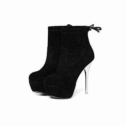 High e Moda Donna Alto col Nero Heels Tacco Scarpe Elegante MissSaSa pXF4SqCxw