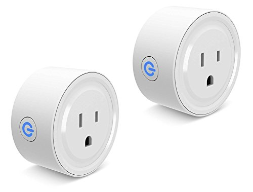 Smart Plug Wi-Fi Enabled Mini Smart Socket Compatible with Alexa Google Home, Remote Control with Timing Function-2 Pack by Cloudy Bay