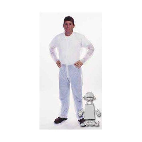 Safety Zone DCWH-LG White Polypropylene Disposable Coverall, Large (Box of 25)