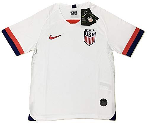 - Men's 2019 USA Home Soccer Jersey 2019 Stadium 3 Star White (Men's Large)