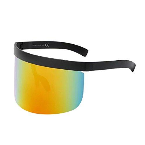 New Fashion Style Eyewear - Sunglasses,✿MOSE❤Unisex Vintage Sunglasses Retro Oversized Hat Glasses Big Frame Frame Hat Eyewear Anti-peeping Fashion New Style Glasses (Multicolo G)