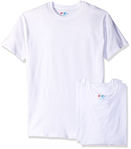 Hanes Men's 3 Pack X-Temp Active Cool White Crew, Assorted, X-Large Hanes Spandex T-shirt