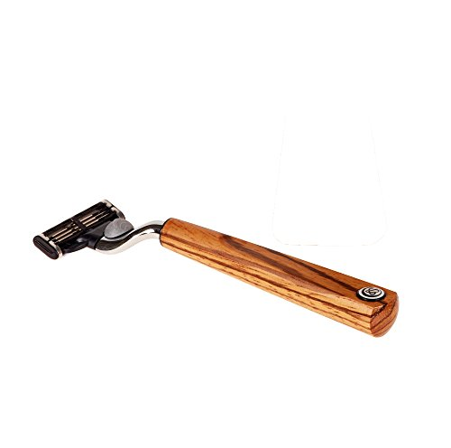 Zebrano Wood Mach 3 Razor for sale  Delivered anywhere in USA