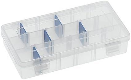 """9 Divider 9.125/"""" x 5/""""  x 1.25/"""" Flambeau Tuff Tainer See-Through Storage Box"""