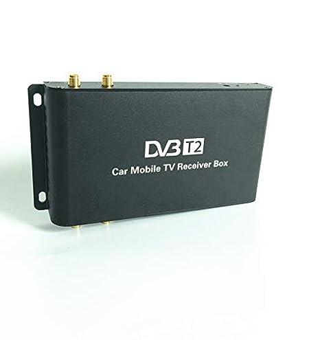 GAX TV Digital decodificador Coche DVB-T2 H. 264 de Cuatro Antenas ...