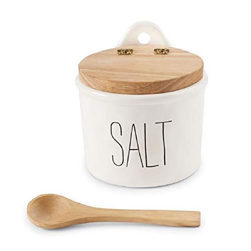 Mud Pie Bistro Salt Cellar and Spoon Set (Cellar Salt Hours)