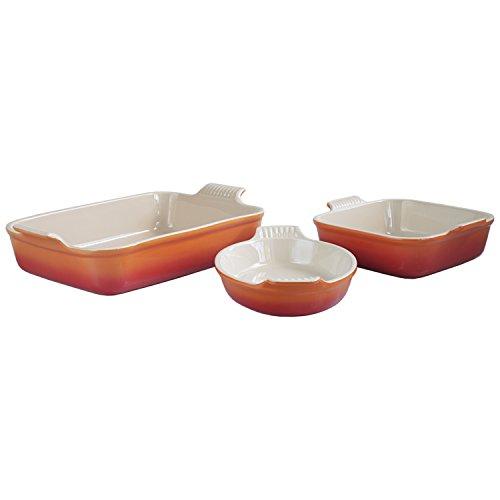 Le-Creuset-Heritage-Flame-Stoneware-3-Piece-Bakeware-Set