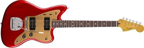 Fender 6 String Squier Deluxe Jazzmaster-Rosewood Fingerboard-Candy Apple Red-Tremolo (0303101509