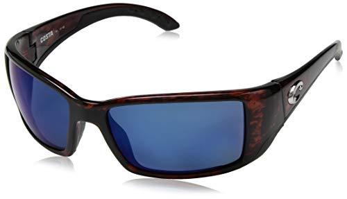 Costa Del Mar Blackfin Sunglasses, Tortoise, Blue Mirror 580 Plastic ()