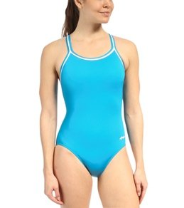 Dolfin Poly Solid DBX Back One Piece Swimsuit Swimsuit - Turquoise - 26