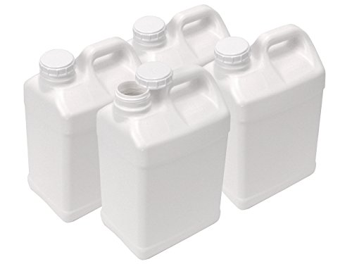 2.5 Gallon Plastic F-Style Jug, Pack of 4 (2.5 Gallon Bottles)