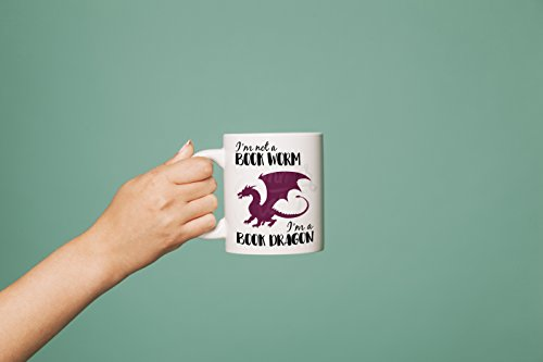 I'm A Book Dragon Mug,English Teacher Gift, Book Lover Gift, Librarian Gift, Bookworm Mug, Bookish, Literature Gift, Funny Book Mug