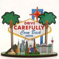 """Las Vegas Strip Welcome Model 3 D Images Sign and Palm Trees 6"""" 32827"""