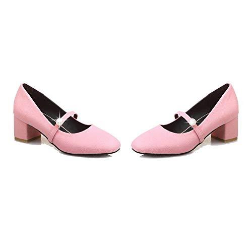 Plastica Rosa Medio flats Agoolar Ballet Gmmdb006181 Tacco Tirare Puro Donna zqwxwv0At