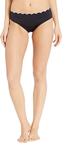 (Kate Spade New York Women's Fort Tilden Hipster Bikini Bottoms, Black, Large)