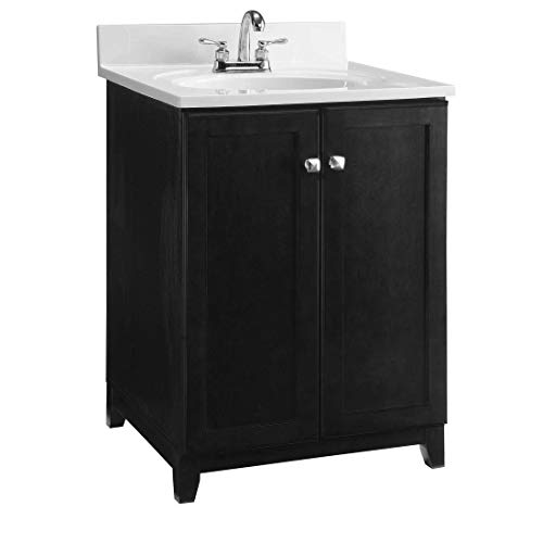 Design House 547257 Furniture-Style Vanity Cabinet, 24 21-inches, Espresso