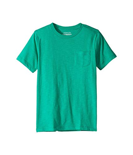 crewcuts by J.Crew Boy's Short Sleeve Pocket Tee - Slub (Toddler/Little Kids/Big Kids) Frozen Lime 4-5 Little Kids