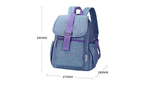 Color Manera Blue El Bebé Mamá De Empaqueta Snow Fuera Maternal Hacia Bolso Del La Purple PqSanBB4