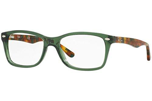 Ray-Ban RX5228 Square Eyeglass Frames, Opal Green/Demo Lens, 53 mm