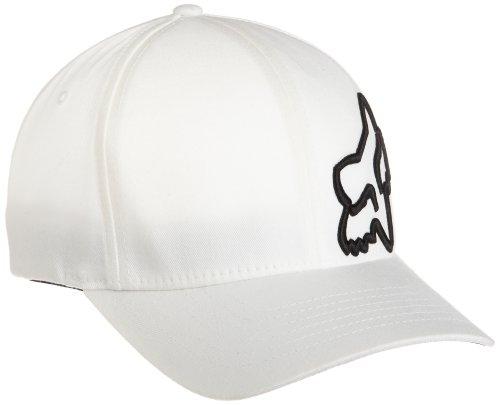 Fox Men's Flex 45 Flexfit Hat, White, Large/X-Large