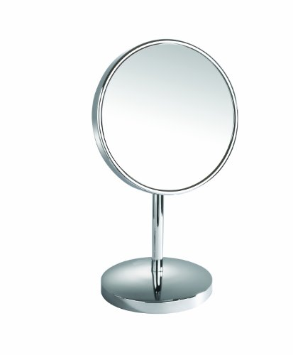 Danielle 10X Chrome Vanity Mirror with Extending Base, Silver