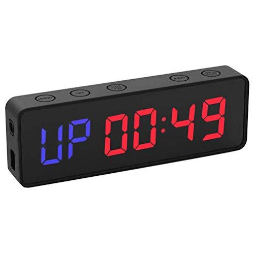 Passer LED Interval Timer, Gym Timer Wandklok, Draagbare Gym Workout Timer Grote LED Digitale Fitness Klok met…