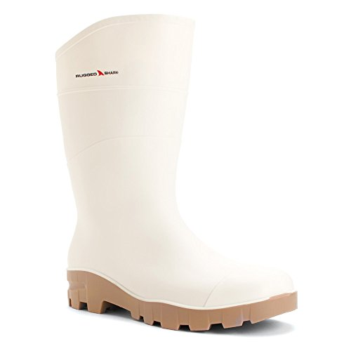 White Rubber Boots - 8