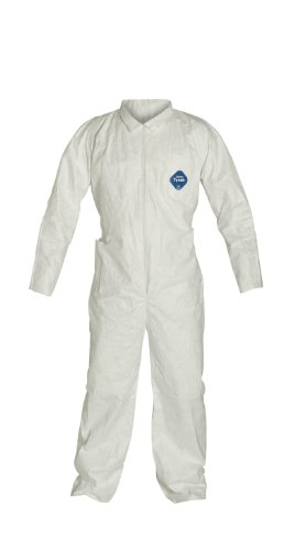 Dupont Tyvek 400 TY152S  Coverall, Disposable, Open Cuff,...
