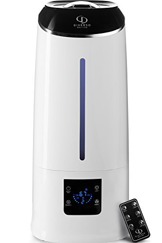 Cool Mist Humidifier - Air Humidifier - Humidifiers for Bedroom - Baby Vaporizer Room Humidifier - Home Top Fill Filterless Ultrasonic Humidifiers for Babies Kids - Air Mist 6l Large Room Humidifier