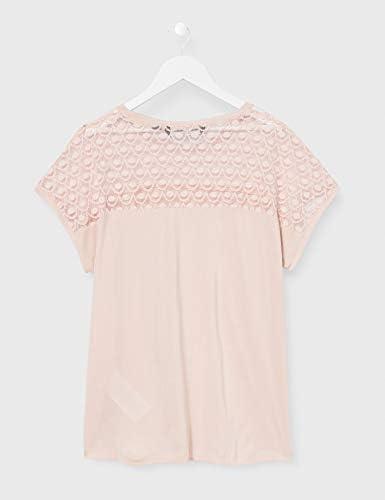 VERO MODA Vmsofia Ss Lace Top Ga Color t-shirt damski: Odzież