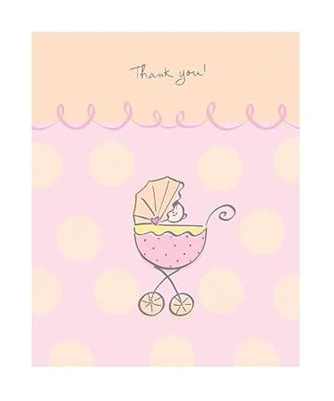 Amazon Com Baby Girl Thank You Cards Baby