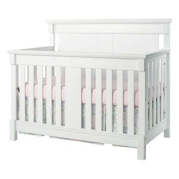 Springfield Convertible Crib Set - white