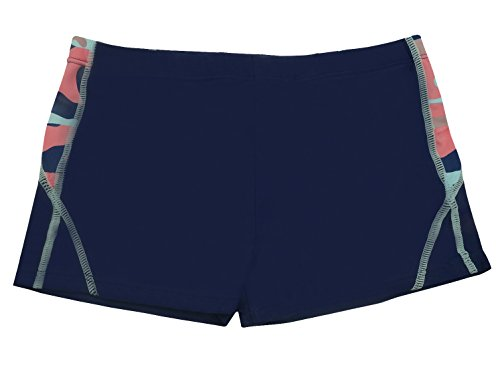 Boys Swim Trunk Sun Protective Wide Elastic Waistband Splice Swimming Shorts 3-4T Navy Blue