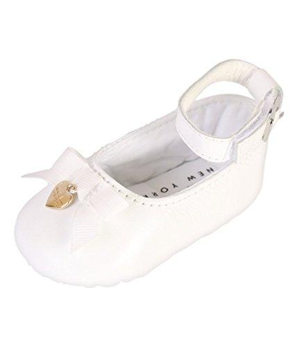 Nicole Miller New York Baby Girls Mary Jane Crib Dress Shoe (Infant), White, 0-6 Months'