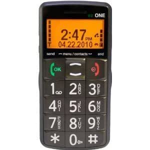 "Snapfon ""ez ONE"" Cell phone for Seniors w/ big buttons, Loud speaking keypad, so easy to see and use"